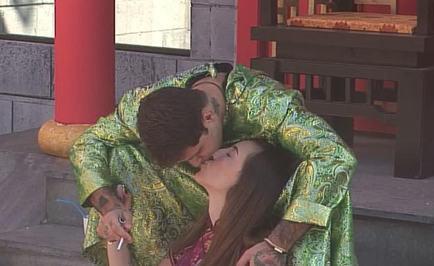 שי חי ותניה מתנשקים (צילום: מתוך האח הגדול 7, שידורי קשת)
