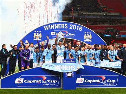 בפעם הרביעית: סיטי זכתה בגביע הליגה (GETTYIMAGES) (צילום: ספורט 5)
