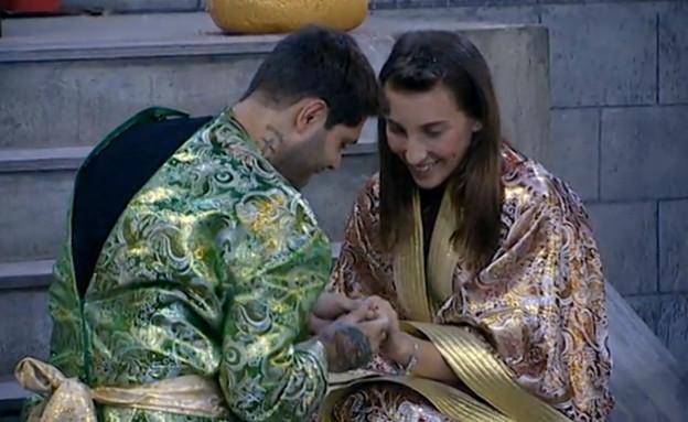 שי חי ותניה הצעת נישואים (צילום: האח הגדול 7\קשת)
