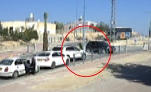 החיסול תועד - אך הנהג חמק ממשפט (צילום: מצלמות אבטחה)