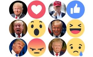 ריאקשנים עם תמונות של דונלד טראמפ