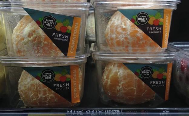 תפוזים מקולפים בקופסאות (צילום: טוויטר)