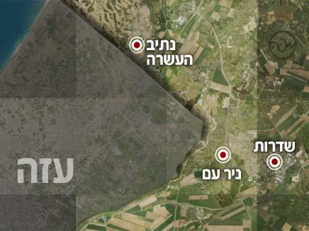 קרובים לגבול הרצועה (צילום: חדשות 2)