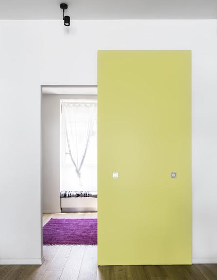קיר צהוב (צילום: איתי בנית)