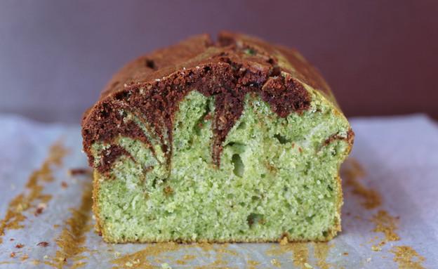 עוגת שיש שוקולד מאצ'ה (צילום: נעמה גאון, אוכל טוב)
