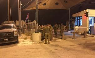 זירת הירי, הערב (צילום: משה נוסבאום, חדשות 2)