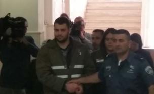 אבו גאנם בבית המשפט, היום (צילום: חדשות 2)