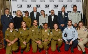 אירוע ההצדעה של ארגון ה-FIDF (צילום: שחר עזרן)