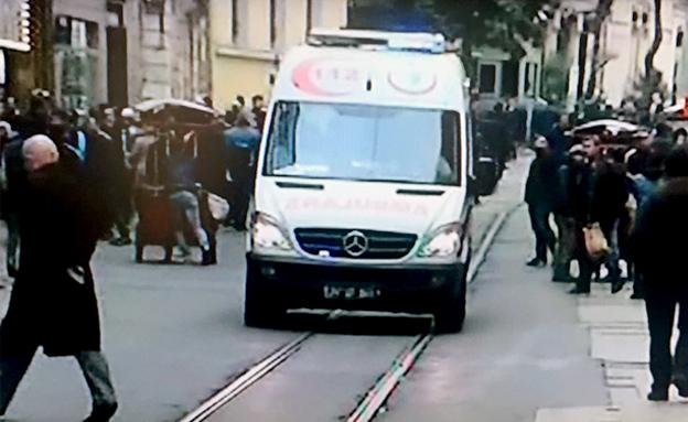 זירת הפיגוע באיסטנבול, הבוקר (צילום: CNN)