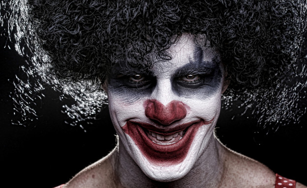 ליצן מפחיד וליצן שמח (צילום: Shutterstock)