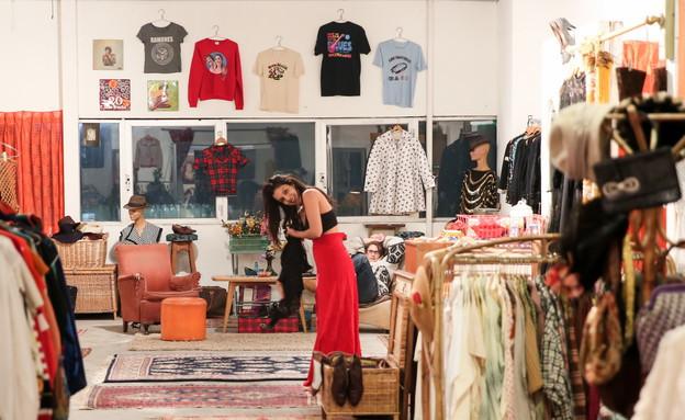 חנות וינטג' ויד שנייה הפועלת במתחם הגלריה (צילום: רווית תורכיה)