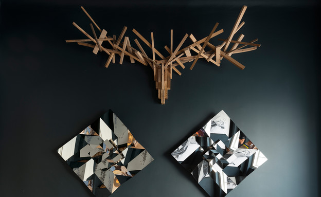 יצירות של אילן גריבי וג'וי ואן ארבן (צילום: גדעון לוין)