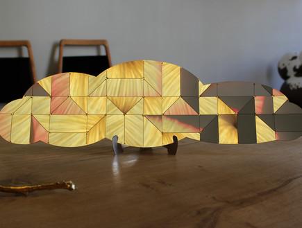 עננים מטאליים של אמן האוריגמי אילן גריבי