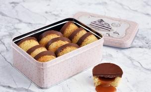 נגיסי שוקולד במילוי קרמל מלוח (צילום: ענבל לביא, אוכל טוב)