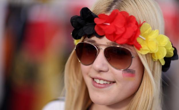 אוהדת גרמניה (צילום: Sean Gallup, GettyImages IL)