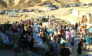 אלפים הגיעו לשמורות. חניון מצדה (צילום: דני ברייר, רשות הטבע והגנים)