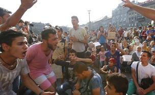 מהומות בהונגריה (צילום: רויטרס)