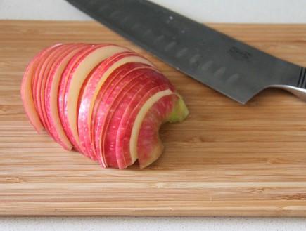 טארט תפוחים מהיר - התפוחים