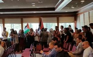 קריאות לאינתיפאדה  בהרצאתו של ניר ברקת (צילום: דוברות עיריית ירושלים)