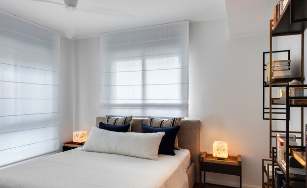 אשרי ודנה, חדר שינה (צילום: עודד סמדר)