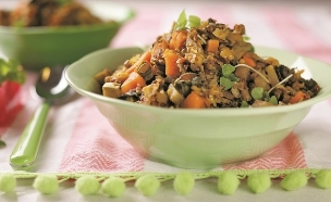אורז אדום עם שעועית  (צילום: עדי הלמן, אוכל טוב)