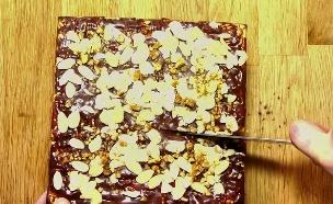עוגת מצות וגלידה (צילום: אוכל טוב)