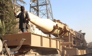 סקאד בידי דאעש (צילום: טוויטר)