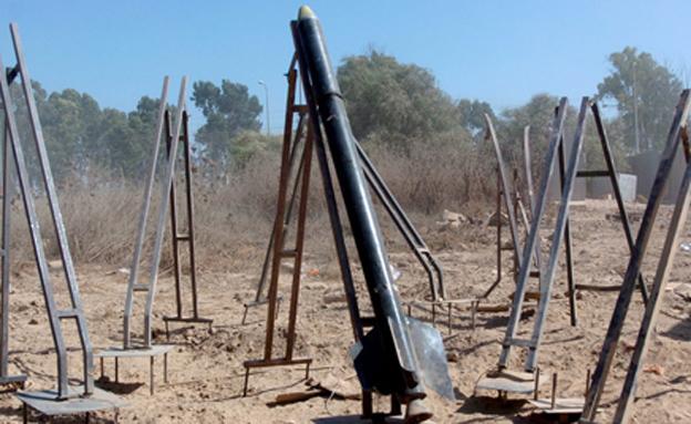 משגרי קסאמים בעזה, ארכיון (צילום: Israel Defense Forces)
