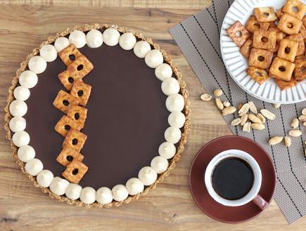פאי בייגלה, שוקולד וחמאת בוטנים (צילום: ענבל לביא, אוכל טוב)