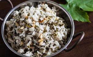 אורז עם עלי גפן (צילום: אסף רונן, אוכל טוב)