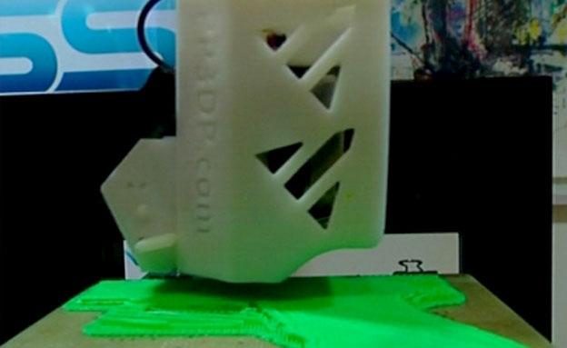מדפסת תלת מימדית (צילום: חדשות 2)