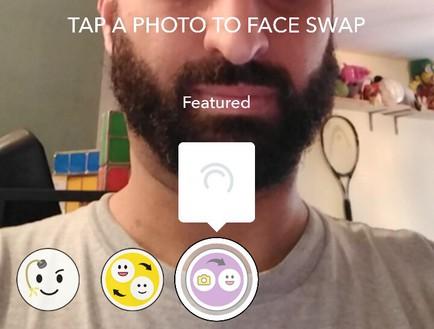 החלפת פנים עם תמונת סטילס בסנאפצ'ט
