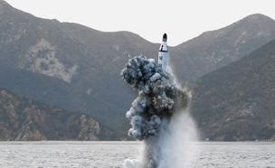 שיגור הטיל הבליסטי מהצוללת