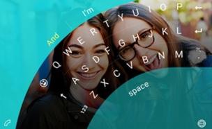 מקלדת Word Flow של מיקרוסופט לאייפון (איור: מיקרוסופט)