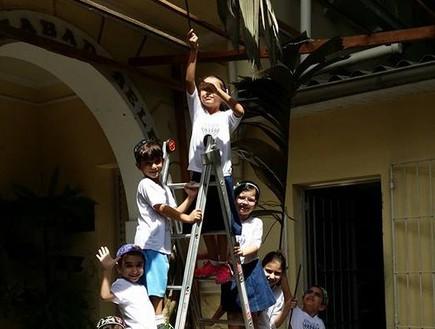 ילדים ברזילאים יהודים בסוכות