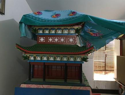 מודל של בית הכנסת הגדול בקאיפנג שהתקיים עד 1850 ונבנה על ידי אביה