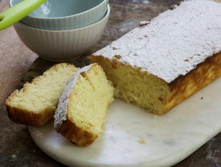 עוגת ריקוטה ולימון לפסח - פרוסה