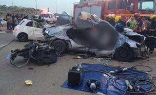 תאונה סמוך לנבטים (צילום: מדא)