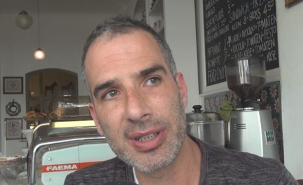 """""""מחפש את הערבוב בין ישראל לברלין"""". שמואל (צילום: חדשות 2)"""