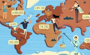 כמה יהודים יש בעולם (איור: פייר קליינהאוז)