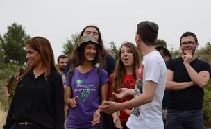 תלמידים מוחים בטיול אלטרנטיבי (צילום: מועצת התלמידים)