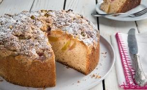 עוגת נקטרינות ופירורים (צילום: דרור עינב, אוכל טוב)
