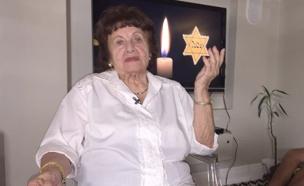 הניצולה בזיכרון בסלון: יהודית אלרט (צילום: חדשות 2)