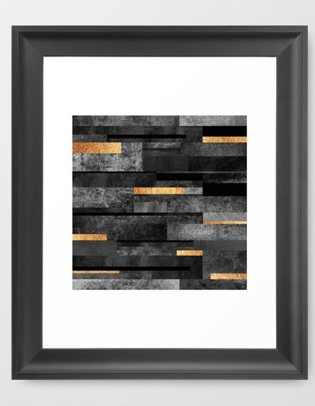 תעשייתי 06, הדפס בגווני שחור וזהב, מחיר-החל מ-68 שקל (צילום: societ)