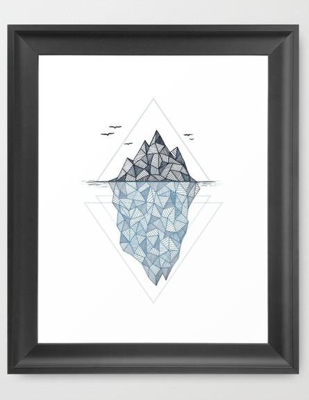 גיאומטרי 01, הדפס קרחון, מחיר-החל מ-65 שקל (צילום: society6.com)