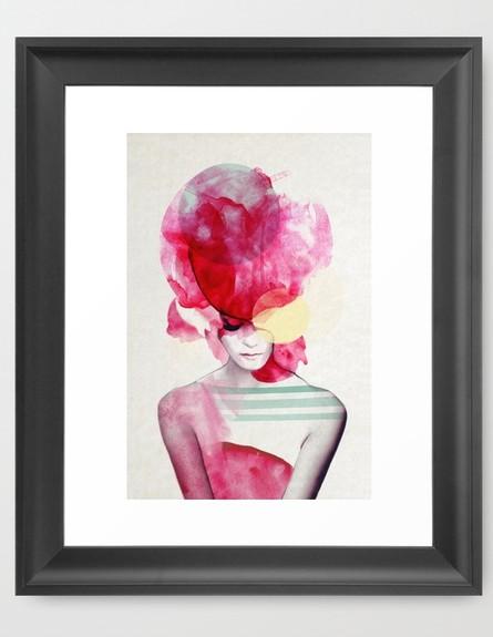 ורוד 01, הדפס אישה, מחיר-החל מ-76 שקל (צילום: society6.com)