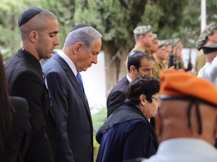 נתניהו בטקס יום הזיכרון בהר הרצל