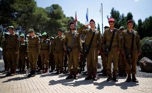 טקס זיכרון, חיילים (צילום: חדשות 2)