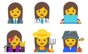 אימוג'י נשים בעלות מקצוע (איור: גוגל)