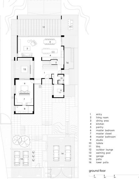 סטודיו לוי חמיצר, ג, קומת הקרקע תוכנית (צילום: עמית גירון)